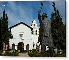 Mission San Juan Bautista Acrylic Print by Jeff Lowe
