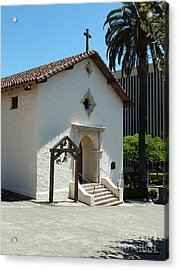 Mission San Rafael Arcangel Chapel Acrylic Print by Methune Hively