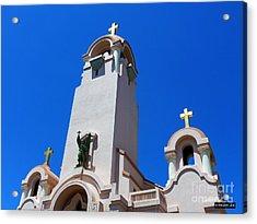 Mission San Rafael Arcangel Acrylic Print by Methune Hively