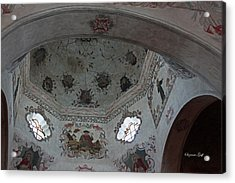 Mission San Xavier Del Bac - Vaulted Ceiling Detail Acrylic Print by Suzanne Gaff