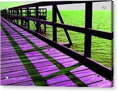 Mississippi  Pier - Ver. 4 Acrylic Print by William Meemken