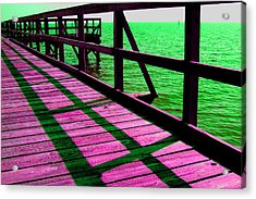 Mississippi  Pier - Ver. 5 Acrylic Print by William Meemken