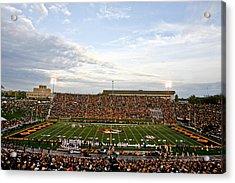 Missouri Memorial Stadium On Game Day Acrylic Print by Replay Photos