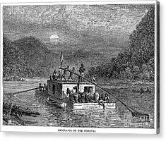 Missouri River: Flatboat Acrylic Print by Granger