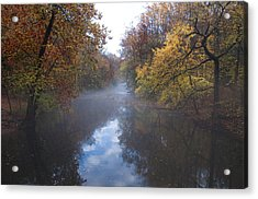 Mist Along The Wissahickon Acrylic Print by Bill Cannon
