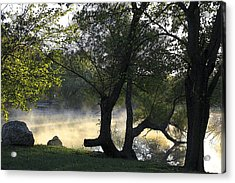 Mist On The Water Acrylic Print