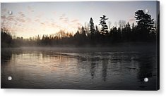 Mist Over The Mississippi Acrylic Print