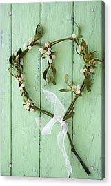 Mistletoe Decoration Acrylic Print by Erika Craddock