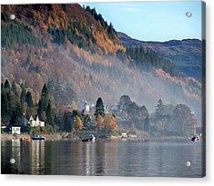 Acrylic Print featuring the photograph Misty Autumn Morning by Lynn Bolt