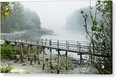 Misty Bridge Acrylic Print