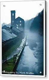 Misty Canal Acrylic Print by Mark Britten