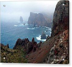 Misty Cliffs Acrylic Print by John Chatterley