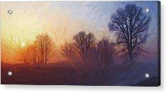 Misty Dawn Acrylic Print by Steve K