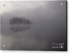 Misty Evergreen Island Acrylic Print by Chris Hill