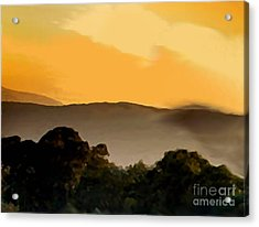 Misty Horizon Acrylic Print