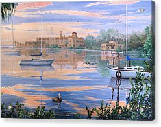 Acrylic Print featuring the painting Misty Morn by AnnaJo Vahle