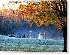 Misty Morning At The Lake Acrylic Print