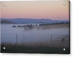 Misty Morning In The Country 1 Acrylic Print