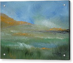Acrylic Print featuring the painting Misty Morning by Judith Rhue