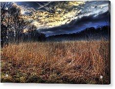 Misty Sunrise Acrylic Print by Mark Six