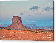 Mitchell Butte In Monument Valley Acrylic Print by Clarence Holmes