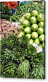 Mixed Vegetables. Acrylic Print by Fernando Barozza