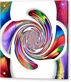 Mixing An Abstract Modern Contemporary Digital Art Acrylic Print
