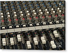 Acrylic Print featuring the photograph Mixing Console by Kim Wilson