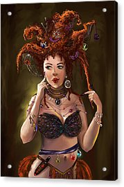 Mmmm...who's Going To Be Next? Acrylic Print by Anastasia Michaels