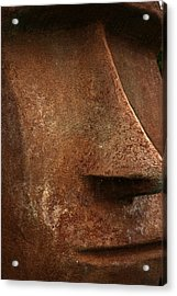 Moai Face Acrylic Print by LeeAnn McLaneGoetz McLaneGoetzStudioLLCcom