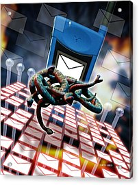 Mobile Telephone Hate Mail Acrylic Print by Victor Habbick Visions