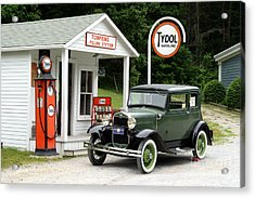 Model A Ford Acrylic Print by Ted Kinsman