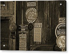Model A Parking Acrylic Print by Terrie Taylor