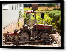Model Tractor Acrylic Print by Miguel Capelo