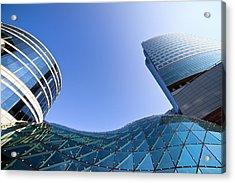 Modern Architecture In Downtown Acrylic Print by Artur Bogacki