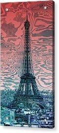 Modern-art Eiffel Tower 17 Acrylic Print by Melanie Viola