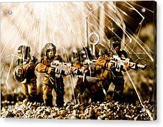 Modern Battle Field Acrylic Print by Marc Garrido