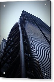 Modern Building In Tokyo Acrylic Print by Naxart Studio