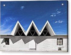 Modern Building Roofing Acrylic Print by Eddy Joaquim