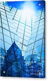 Modern City Acrylic Print by Setsiri Silapasuwanchai