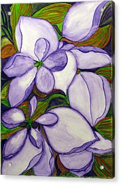 Acrylic Print featuring the painting Modern Mussaenda by Debi Singer