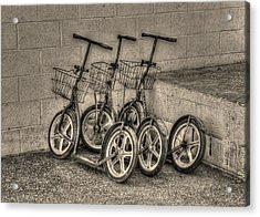 Modern Old Ways In Black And White Acrylic Print by Greg and Chrystal Mimbs