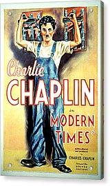 Modern Times, Charlie Chaplin, 1936 Acrylic Print by Everett