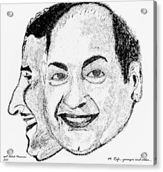Mohammed Rafi Sketch Younger And Older Acrylic Print by Ashok Naraian
