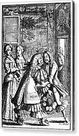 Moliere: Pr�cieuses, 1682 Acrylic Print by Granger