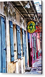 Molly's Bar On Toulouse Acrylic Print by Bill Cannon