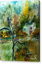 Acrylic Print featuring the painting Molly's Paradise by MaryAnne Ardito
