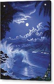 Molokai Moonlight Acrylic Print