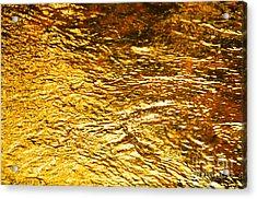 Molten Gold Acrylic Print