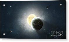 Moments Before A Total Eclipse Acrylic Print by Tomasz Dabrowski